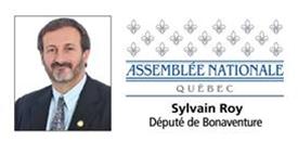 Sylvain Roy, député de Bonaventure