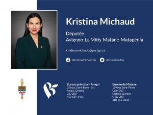 Kristina Michaud, députée